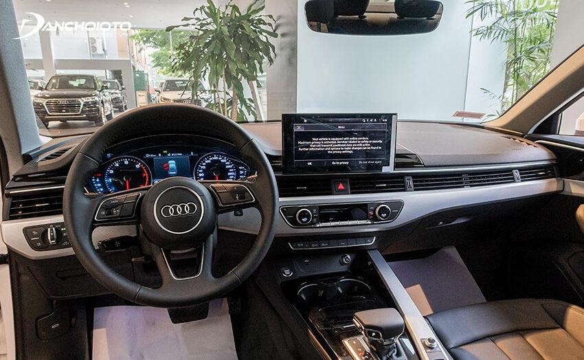 Thiết kế taplo Audi A4 2020 nhìn chung tương tự như đời trước