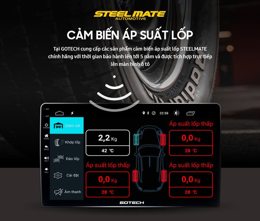 Khả năng tích hợp cảm biến áp suất lốp