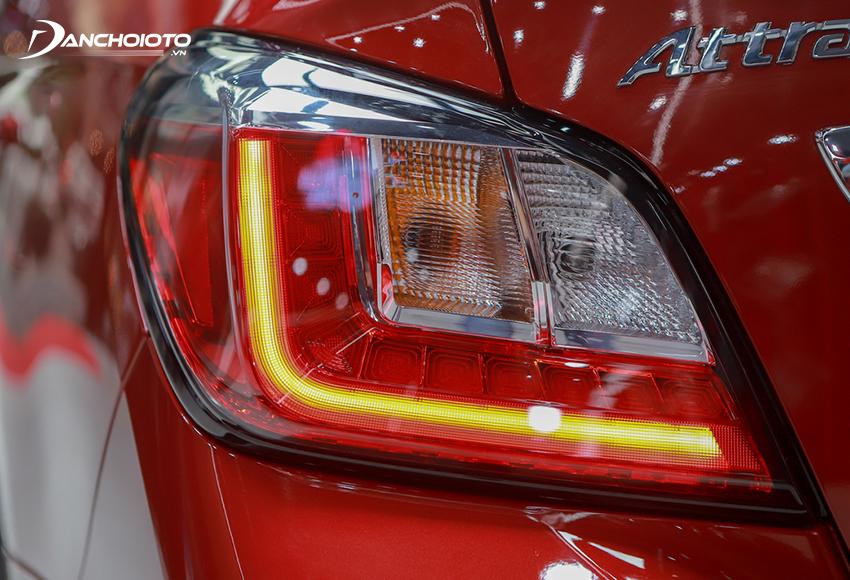 Cụm đèn hậu Attrage 2020 được tái thiết kế với việc sắp xếp lại những đèn chức năng