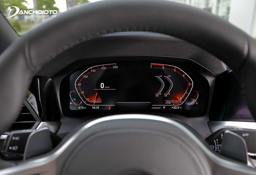Cụm đồng hồ 330i 2020 kiểu đồng hồ kỹ thuật số với màn hình 12.3 inch