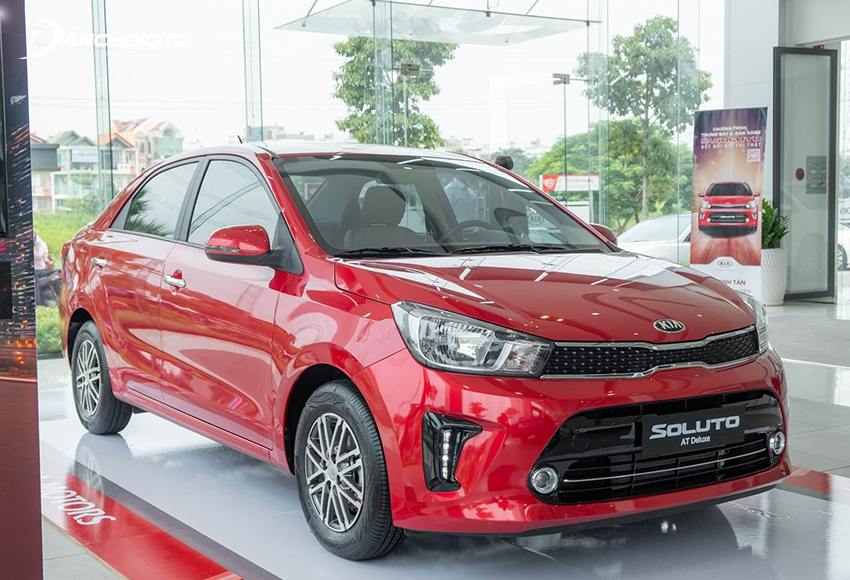 Giá xe Kia Soluto không chênh lệch nhiều với Mitsubishi Attrage nhưng được trang bị động cơ 1.4L lớn hơn