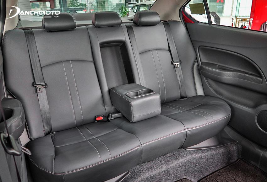 Hàng ghế sau Attrage 2020 được đánh giá rất cao về độ thoải mái