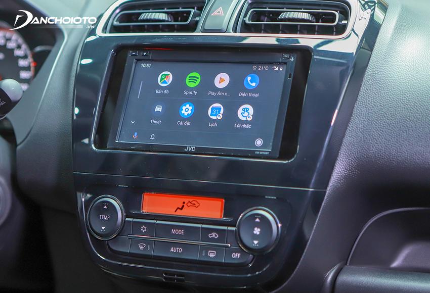 Mitsubishi Attrage 2020 bản số tự động vô cấp được trang bị màn hình trung tâm cảm ứng 7 inch đi cùng âm thanh 4 loa