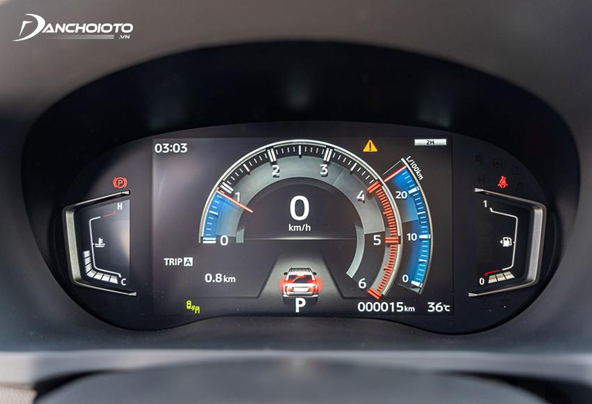 Mitsubishi Pajero Sport 2020 nâng cấp sử dụng đồng hồ kỹ thuật số với màn hình LCD 8 inch