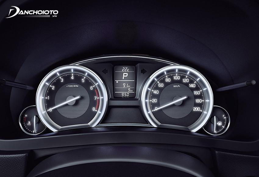 Cụm đồng hồ Suzuki 2021 cũng thuộc dạng cơ bản