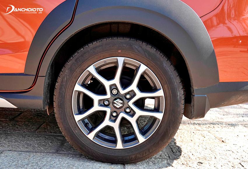 """""""Dàn chân"""" Suzuki XL7 2020 hấp dẫn với mâm xe ô tô 16 inch 5 chấu kép 2 màu"""