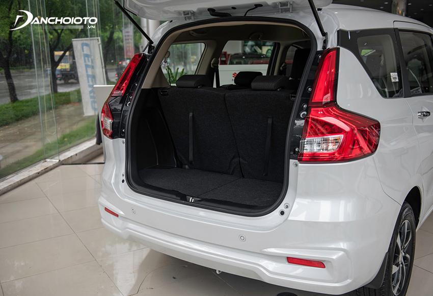Khoang hành lý Suzuki Ertiga khá nhỏ
