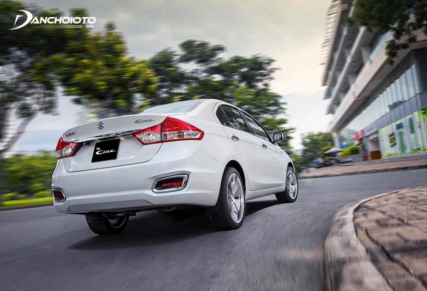 Khung gầm, hệ thống treo Suzuki Ciaz 2021 được đánh giá tương đối ổn