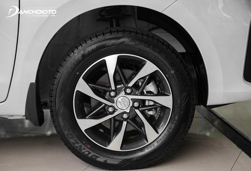 Suzuki Ertiga 2021 chỉ dùng ở mâm 15 inch, kết hợp lốp 185/65R15
