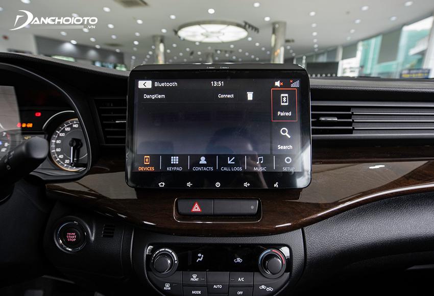 Suzuki Ertiga 2021 được trang bị màn hình xe Android cảm ứng 10 inch, lớn nhất trong phân khúc