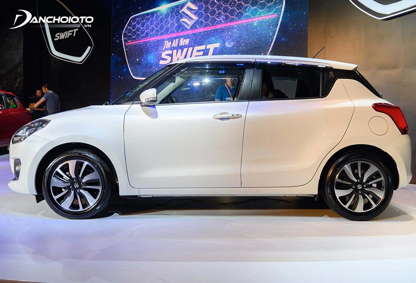Suzuki Swift 2021 có form dáng vuông vắn, cứng cáp và năng động