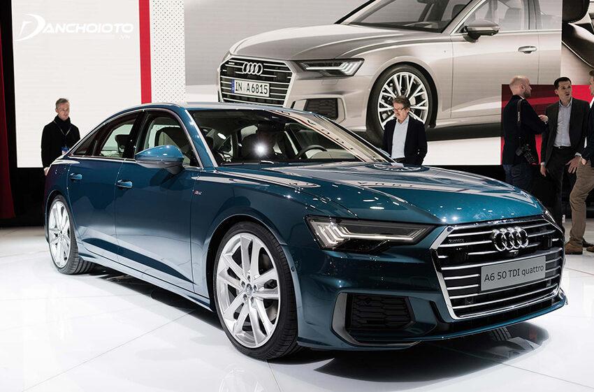 Audi A6 là một mẫu xe sedan hạng sang cỡ trung nổi bật với tính hiện đại