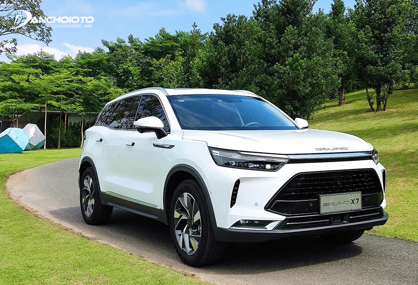 Baic Beijing X7 là xe có giá bán thấp nhất trong phân khúc xe ô tô 5 chỗ gầm cao hạng trung