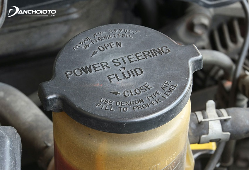 The oil tank is usually located next to the power steering wheel zipper