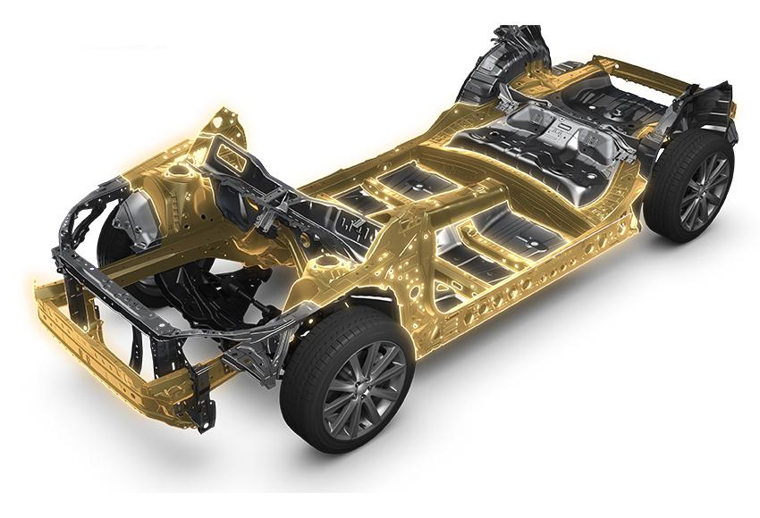 The subaru cars are acclaimed with the exclusive subaru global platform gamut frame