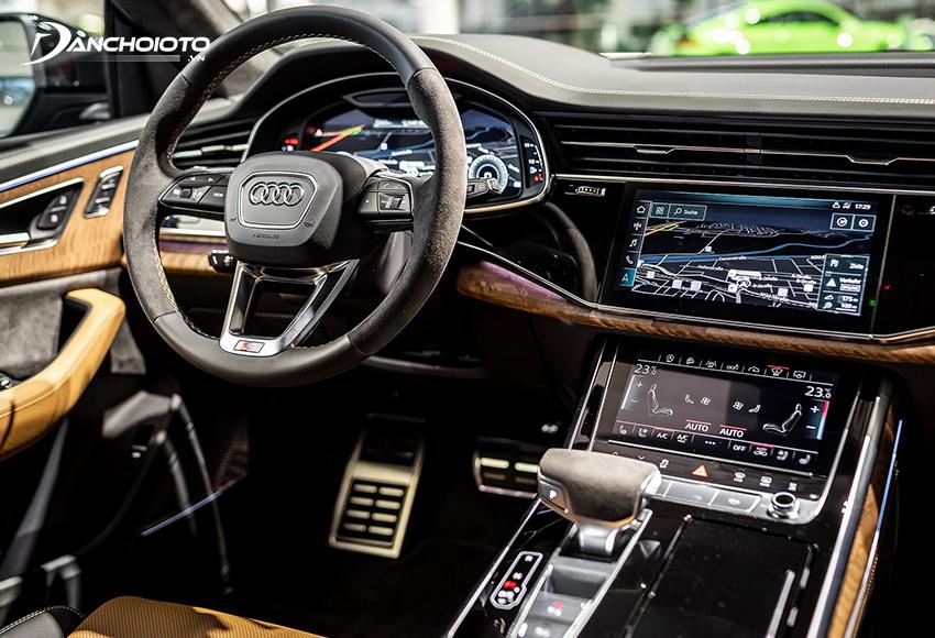Các mẫu xe ô tô Audi ghi điểm lớn ở phần nội thất cao cấp với nhiều trang bị công nghệ cao