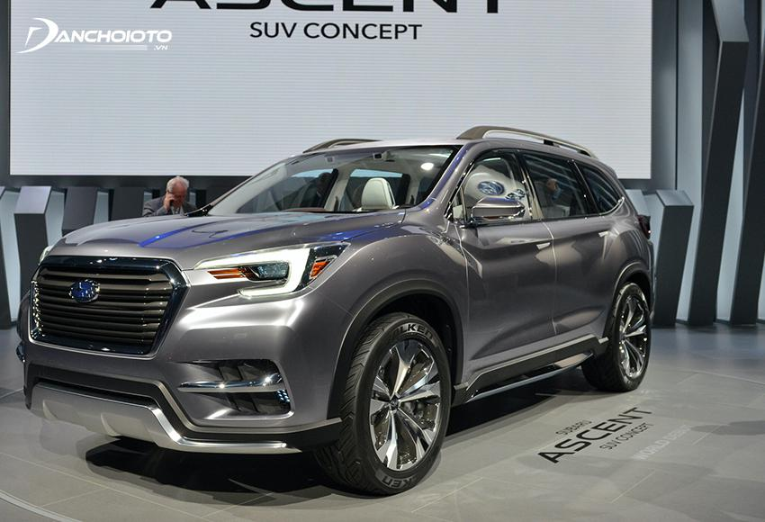 subaru ascent shows the right to the market