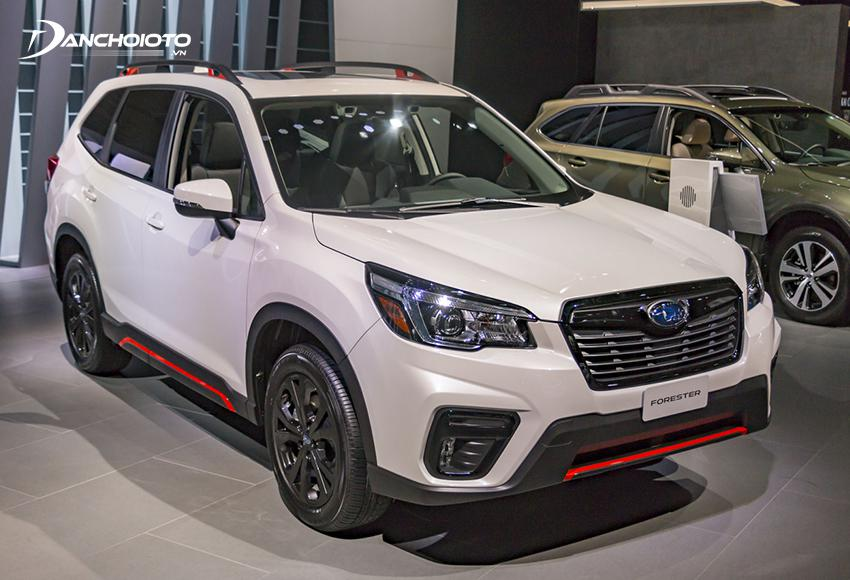The subaru forester is valued at the high end of the spectrum