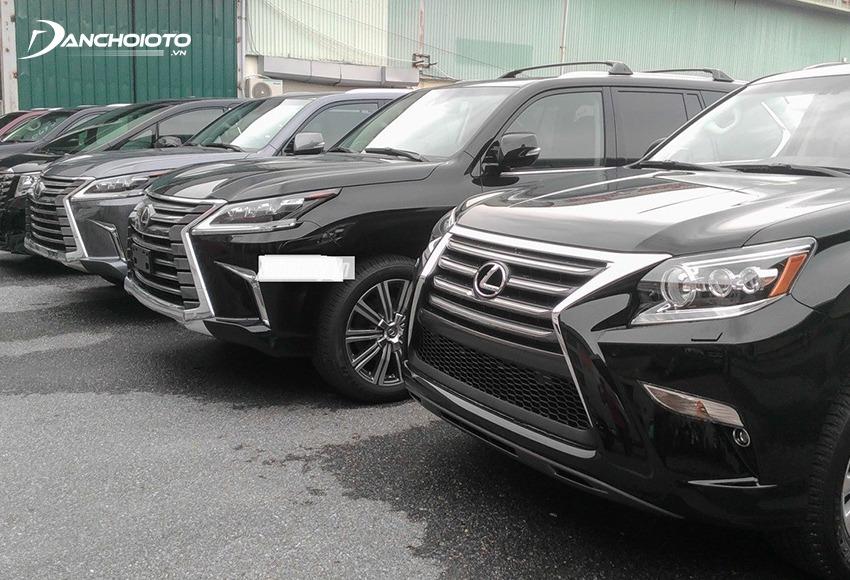 Xe ô tô nhập khẩu từ Mỹ chủ yếu là các mẫu xe của Toyota, Lexus, Jeep, Cadillac…