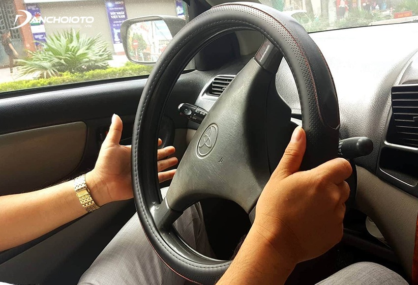 Turning the steering wheel while the car is turned off will cause the steering wheel to lock