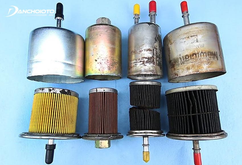 Lọc xăng sẽ bị bẩn và xuống cấp dần theo thời gian sử dụng