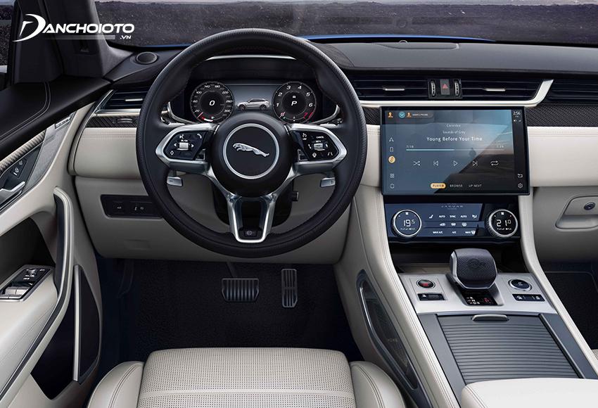 Nội thất các mẫu xe Jaguar nổi bật với nhiều trang bị hiện đại