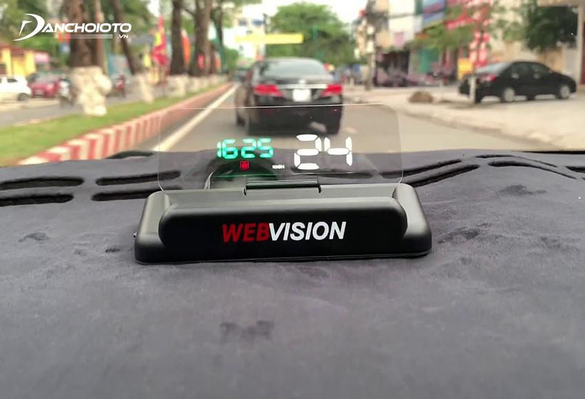 Màn hình hiển thị kính lái HUD Webvision V8