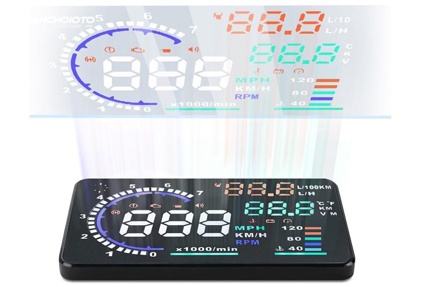 Màn hình HUD kết nối OBD hiển thị được nhiều thông tin của hệ thống vận hành xe