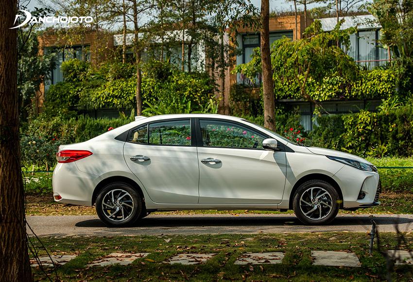 Thân xe Toyota Vios 2021 gần như không thay đổi