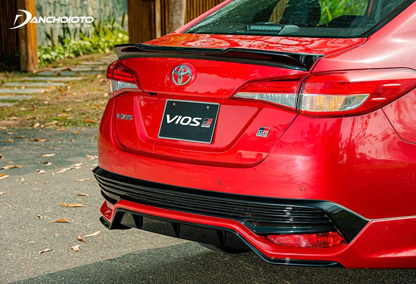 Toyota Vios GR-S có ốp cản sau thể thao