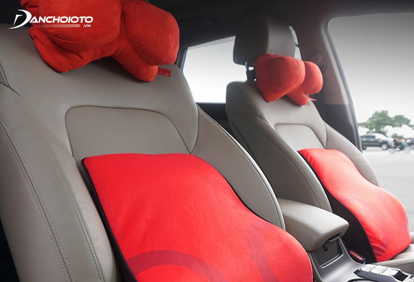 Car backrest headrest set