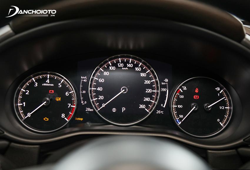 Cụm đồng hồ Mazda CX-30 2021 dùng giao diện tương tự Mazda 3