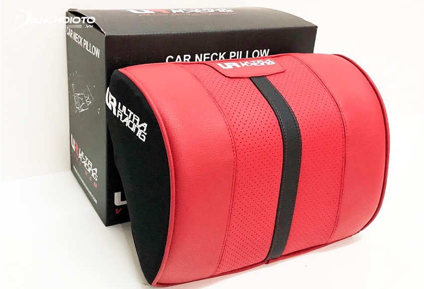 Ultra Racing car neckrest has a pillow core made from young rubber, high-quality leather cover