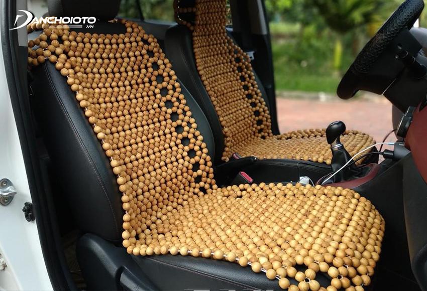 Lót ghế xe hơi hạt gỗ