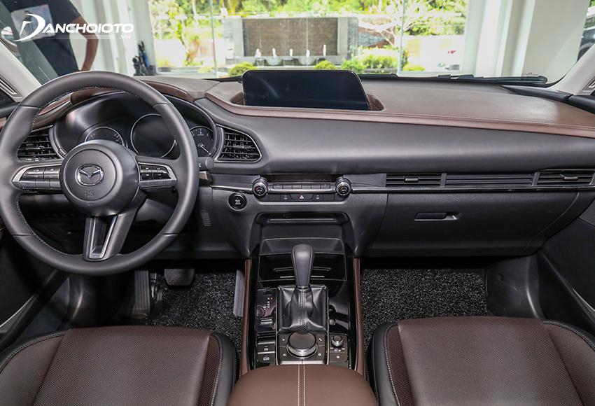 Mazda CX-30 2021 kế thừa hơn 80% thiết kế nội thất của Mazda 3