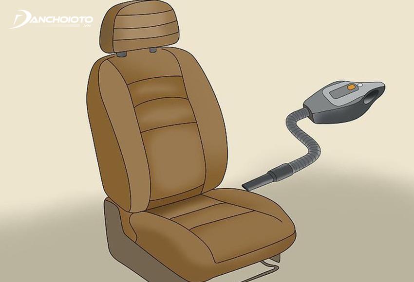 Hút bụi ghế xe