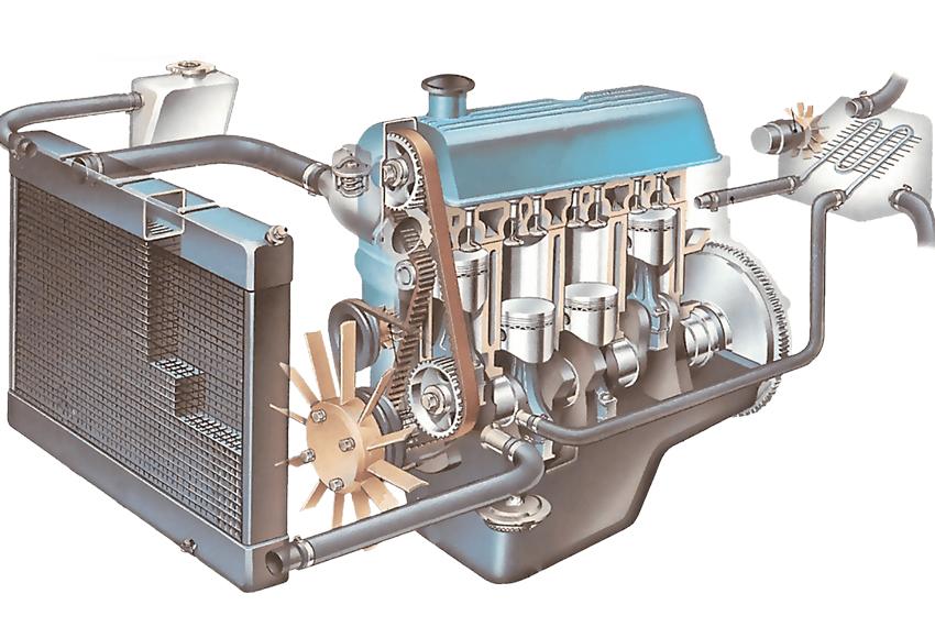 Két nước ô tô có tác dụng hạ nhiệt nước làm mát động cơ ô tô