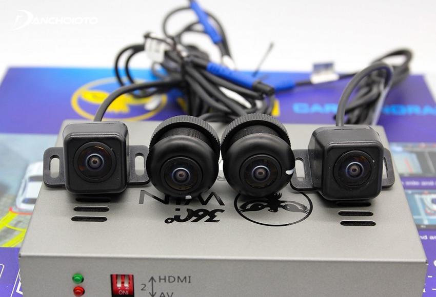 Một bộ camera 360 độ thường có từ 4 mắt camera được lắp ở 4 vị trí: đầu xe, đuôi xe, gương hậu bên trái và gương hậu bên phải
