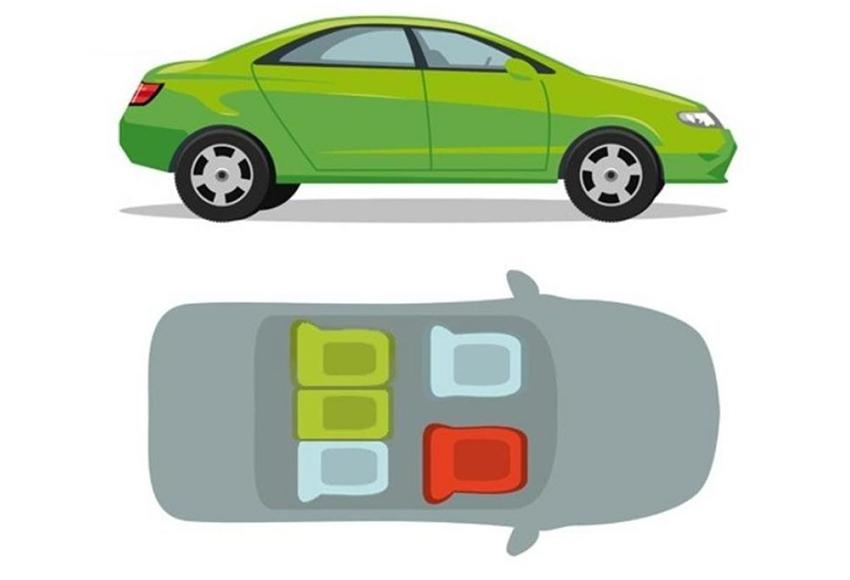 Vị trí ngồi trên xe ô tô an toàn nhất là ở giữa và sau lưng ghế lái