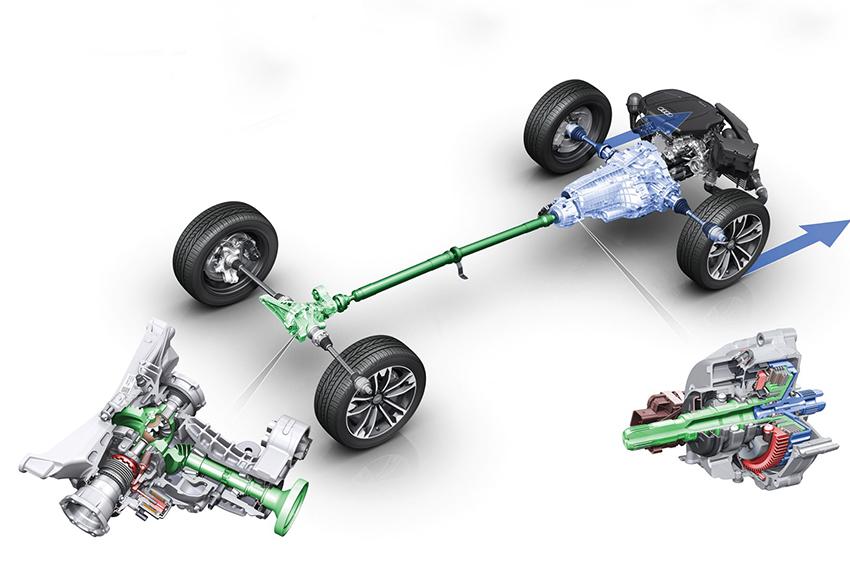 Xe dẫn động 4 bánh bán thời gian 4WD được dẫn động 2 cầu với sức mạnh động cơ truyền đến các bánh xe thông qua một hộp số phụ