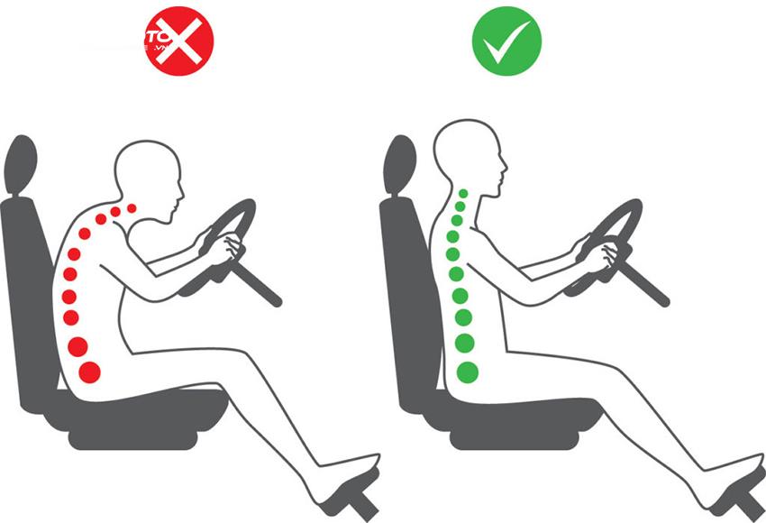 Chú ý ngồi đúng tư thế khi lái xe