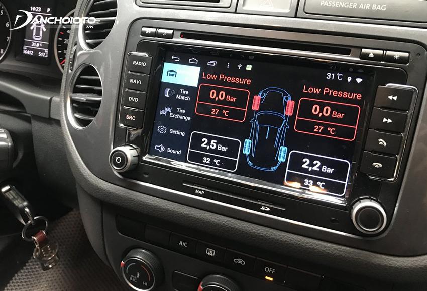 Nhiều dòng cảm biến áp suất lốp hiển thị màn hình DVD xe hơi