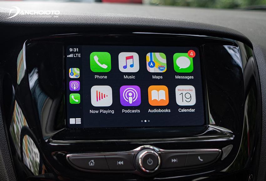 Apple CarPlay có nhiều ứng dụng tương tự như trên iPhoneApple CarPlay có nhiều ứng dụng tương tự như trên iPhone
