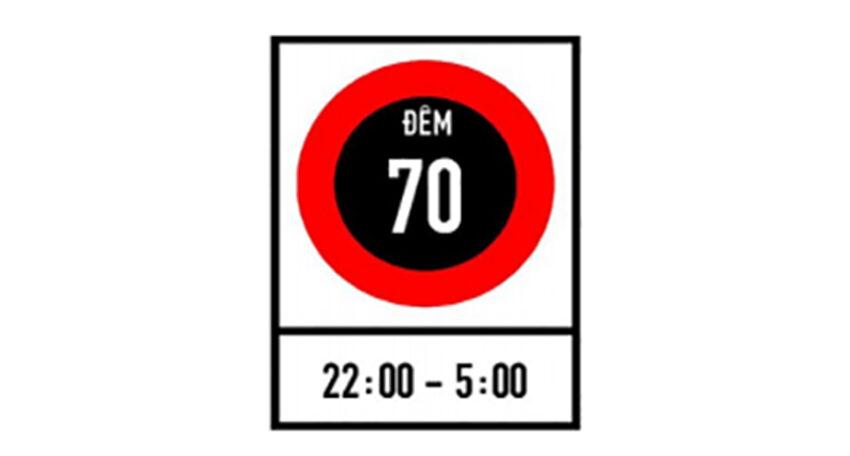 Biển báo Tốc độ tối đa cho phép về ban đêm P.127a