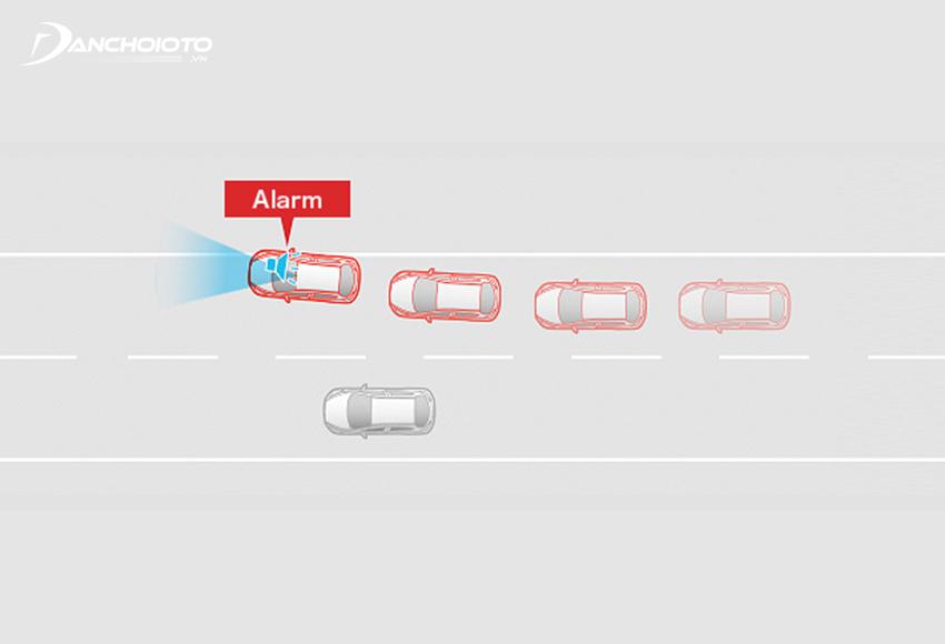 Cảnh báo chệch làn đường LDWS là một công nghệ giúp cảnh báo cho người lái khi xe bắt đầu di chuyển ra khỏi làn đường đang đi