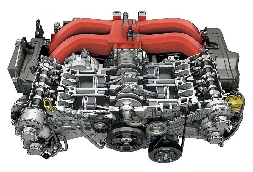 Để lắp đặt động cơ Boxer, nhà sản xuất phải chế tạo khung xe riêng với các tính toán phức tạp hơn