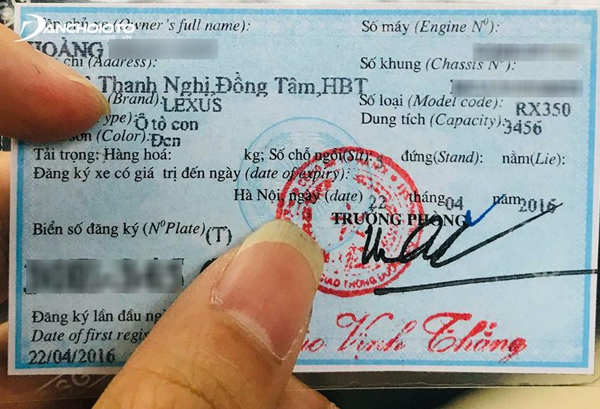 Lỗi không có Giấy đăng ký xe bị phạt tiền từ 2.000.000 – 3.000.000 đồng