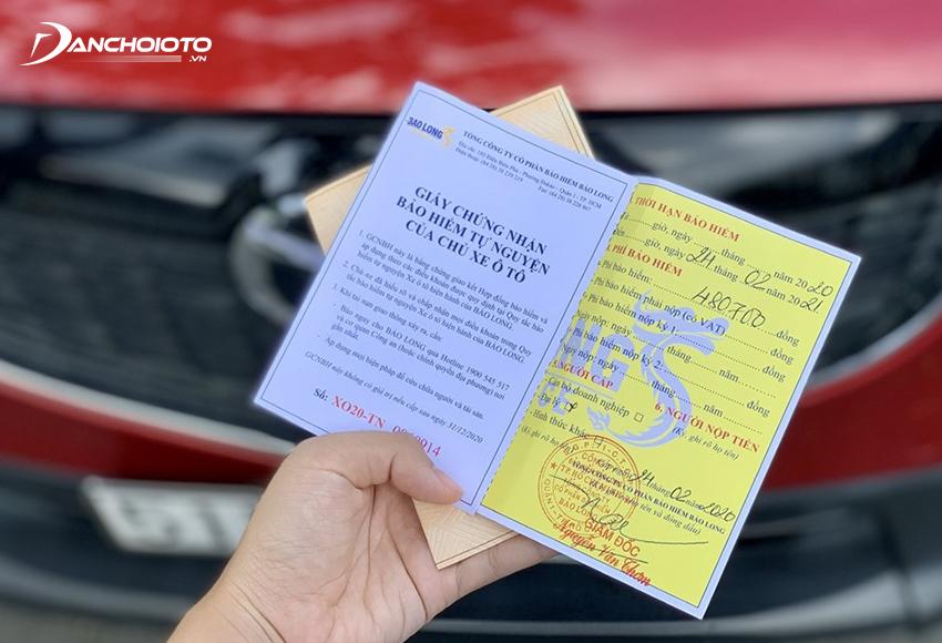 Lỗi không có hoặc không mang Bảo hiểm trách nhiệm dân sự của chủ xe cơ giới còn hiệu lực bị phạt tiền từ 400.000 – 600.000 đồng