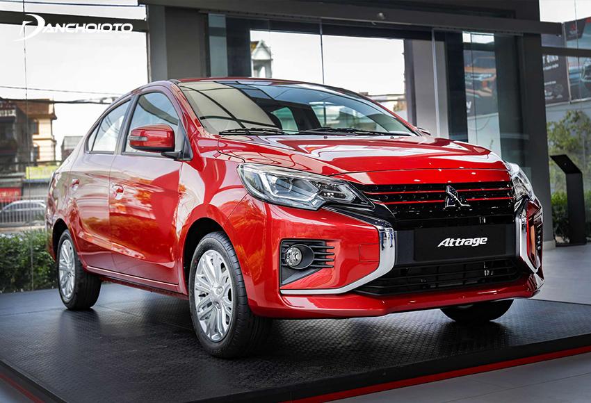 Mitsubishi Attrage là mẫu xe sedan hạng B hiếm hoi có giá chỉ hơn 350 triệu đồng