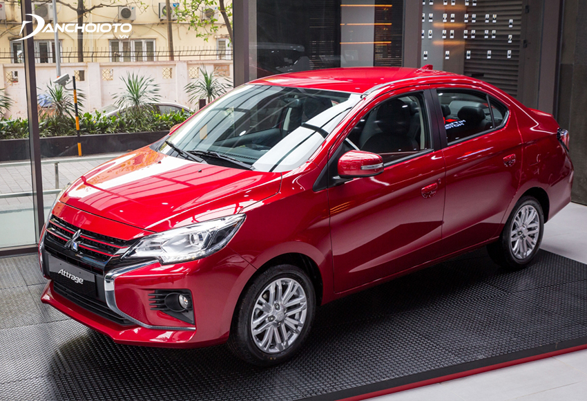 Mitsubishi Attrage là một mẫu ô tô đáng tham khảo khi mua xe mới tầm 400 triệu